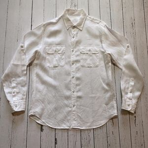 J. Crew Men's Baird McNutt Linen Camp Shirt, M